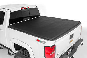 Rough Country Soft Tri Fold Bed Cover 6ft Bed For 01 04 Toyota Tacoma