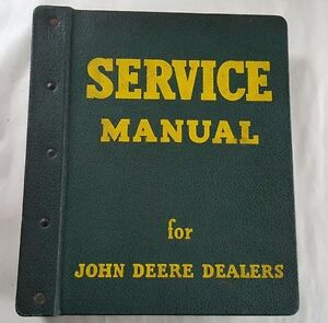 1961 John Deere 1000 Series Tractor Service Manual With John Deere Binder