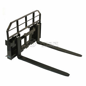 36 Pallet Fork Attachment 5500 Lb Capacity Tractor Skid Steer Quick Tach