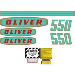 New 550 Oliver Tractor Complete Decal Set High Quality Lasting Vinyl Decal Kit