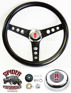 1968 Cutlass 442 F85 Toronado Steering Wheel Classic Black 13 1 2 Grant