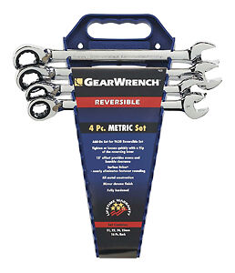 Gearwrench 9601n 4 Piece Reversible Ratcheting Wrench Completer Set Metric