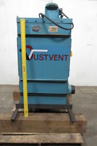 Dustvent 10mc 1 5 Hp Dust Collector 8 Dia Inlet 208 230 460v Motor