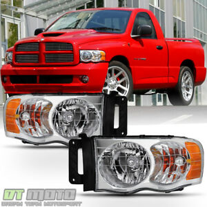 2002 2003 2004 2005 Dodge Ram 1500 2500 3500 Headlights Aftermarket Left Right