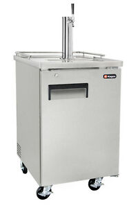 Kegco 1 Keg Commercial Grade Kegerator With Sankey Direct Draw Kit Stainless