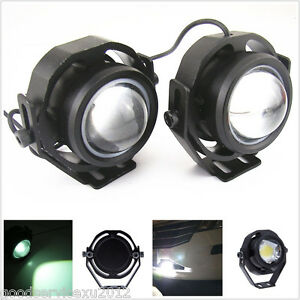 2 Pcs White Led Cree U2 Fisheye Car Off Road Fog Lights Drl Tail Reversing Lamps