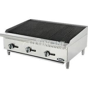 Atosa Heavy Duty Radiant Charbroiler Natural Gas 3 Burners Atrc 36