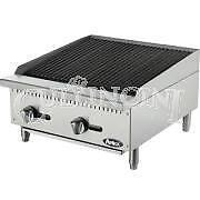 Atosa Heavy Duty Radiant Charbroiler 24 In 2 Burners Propane Atrc 24 ng