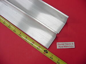 2 Pieces 2 x 2 x 1 4 Aluminum 6061 Angle Bar 48 Long T6 Extruded Mill Stock