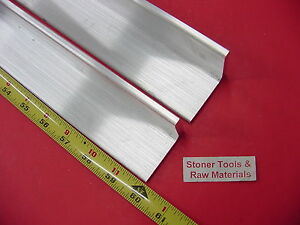2 Pieces 2 x 2 x 1 4 Aluminum 6061 Angle Bar 60 Long T6 Extruded Mill Stock
