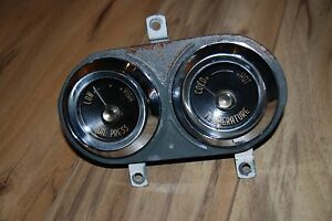 1955 56 Desoto Factory Oil Pressure And Temperature Gauge Assembly Nice