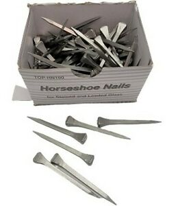 Box of 100 2quot; Horseshoe Horse Shoe NAILS by Top Tool Stained Glass Lead Supplies $11.12