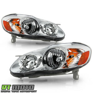 For 2003 2008 Toyota Corolla Replacement Headlights Amber Signal Lamp Left right