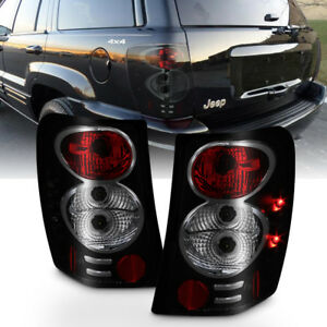 Black Smoke 1999 2004 Jeep Grand Cherokee Tail Lights Brake Lamps Set Left right
