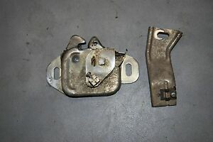 1964 66 Chrysler Imperial 2 Piece Hood Latch Assembly Good Working Original