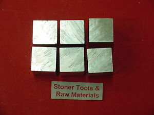 6 Pieces 1 X 1 Aluminum 6061 Square Bar 9 5 Long New T6 Flat Mill Stock 1 00