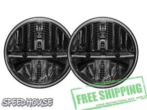 Rigid Industries Truck lite Heated 7 Round Led Headlight Kit Black Non jk 55008