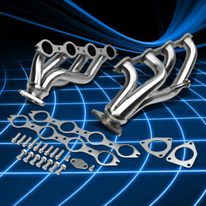For 99 05 Chevy Gmc Truck 4 8 5 3 V8 Stainless Shorty Header Manifold Exhaust