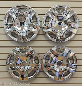 15 Chrome Hubcaps Wheelcovers Fits 2010 2012 Nissan Versa Set Of 4 New