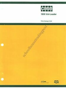 Original Case Parts Catalog C1245 1830 Uni loader 1978