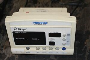 Welch Allyn Protocol Quik Signs 52000 Patient Monitor No Power Supply