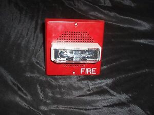 Siemens Fire Alarm Horizontal Strobe 4609 Ps4452 003 500 636039 Speaker Type F