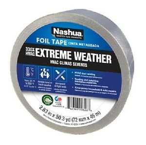 8 Rolls Nashua 330 1541238 3 X 50 Yd Silver Extreme Weather Hvac Foil Tape