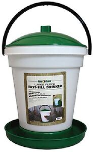 Harris Farms 10002676 2 5 Gallon Large Flock Poultry Game Bird Waterer Drinker