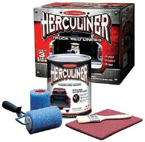 Herculiner Hcl1b8 1 Gallon Diy Pick Up Truck Brush On Bedliner Kit