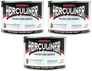 3 Herculiner Hcl1b7 Quart Ready To Use Do It Yourself Roll On Truck Bed Liner