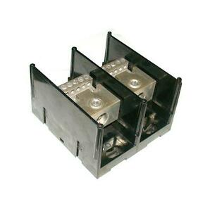 Gould Shawmut 2 pole Power Distribution Terminal Block Model 69152