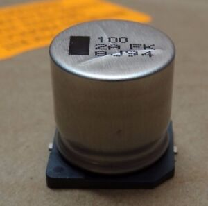 Panasonic Eevfk2a101m Fixed Aluminum Electrolytic Capacitor 100uf 100v 125 Count