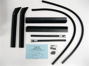1935 1936 1937 Ford Pickup Truck Door Window Channel Kit W Rubber Bumpers