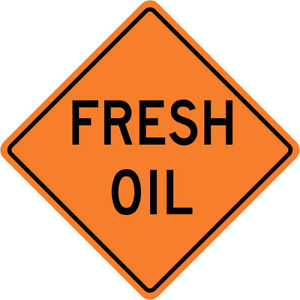3m Reflective Fresh Oil Street Road Construction Sign 30 X 30