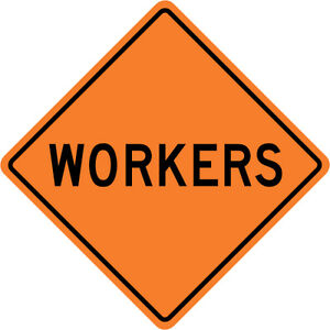 3m Reflective Workers Street Road Construction Sign 30 X 30