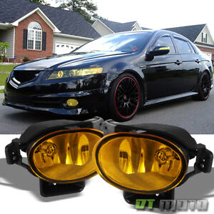 2007 2008 Acura Tl Yellow Bumper Fog Lights Lamps Set W bulbs 07 08 Left right