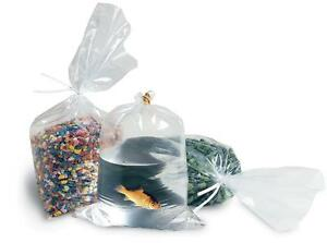 1000 9x12 Clear Flat Poly Open End Stock Bags Plastic Shipping Supplies