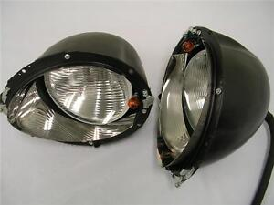 1939 Ford Deluxe Headlights Buckets Assembly W Turn Signal Pair