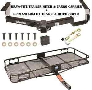 Trailer Hitch For 08 13 Toyota Highlander Cargo Basket Carrier Silent Pin