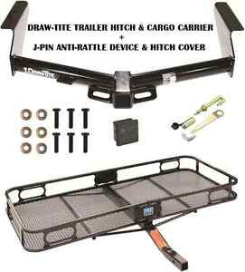 2008 12 Jeep Liberty Trailer Hitch Cargo Basket Carrier Silent Pin Lock Tow