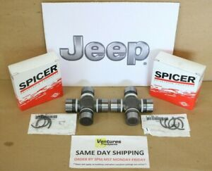 Jeep Jk Wrangler Rubicon Dana 44 Front Axle Shaft U Joint Pair Dana Spicer 07 16