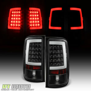 Black 2007 2013 Gmc Sierra 1500 2500hd 3500hd Led Tube Tail Lights Brake Lamps
