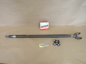 Inner Axle Shaft 28 Spline With New U Joint Gm 10 Bolt Lh Drivers Side Front