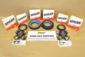 Seal And Greaseable U Joint Kit Ford Super Duty F350 F250 Dana 50 60 Front 98 04