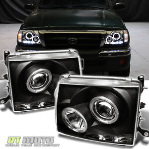 For Blk 1997 2000 Toyota Tacoma 2wd 98 99 4wd Led Projector Headlight Headlamps