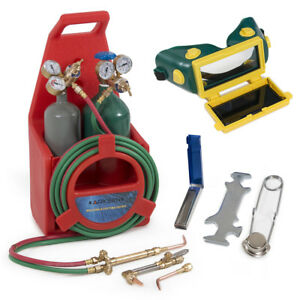 Professional Portable Oxygen Acetylene Oxy Welding Cutting Weld Torch Tank Kit