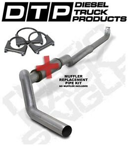 5 Exhaust Chevy Gmc Duramax Diesel 01 07 k5118a rp Straight Pipe