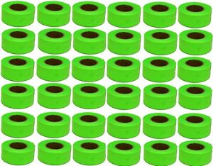 36 Rolls Hanson 17001 150 Ft Glo Lime Green Flagging Tape Marking Ribbon