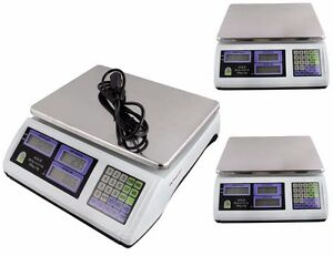 3 X Digital Weight Scale 60lb Computing Food Meat Scale Produce Deli Industrial