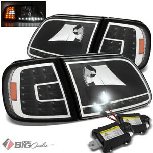 For 8000k Slim Xenon Hid Kit 97 03 Ford F150 Led Headlights corner Lights Lamp